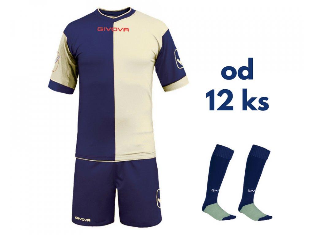 Futbalová sada Givova Combo pre celé mužstvo, od 12 ks, tmavo modrá / biela