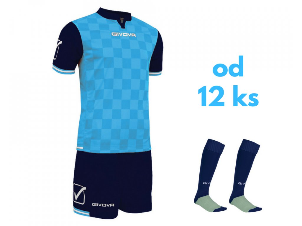 Futbalová sada Givova Competition pre celé mužstvo, od 12 ks, svetlo modrá / tmavo modrá