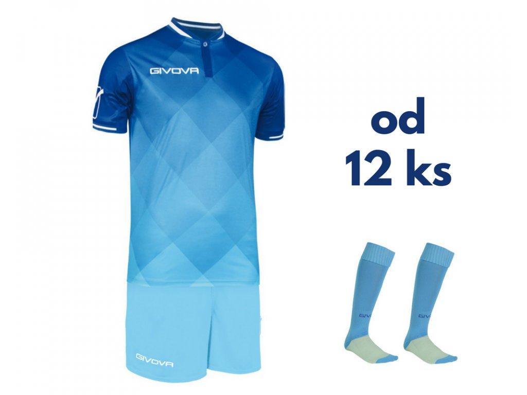 Futbalová sada Givova Shade pre celé mužstvo, od 12 ks, kráľovsky modrá / svetlo modrá