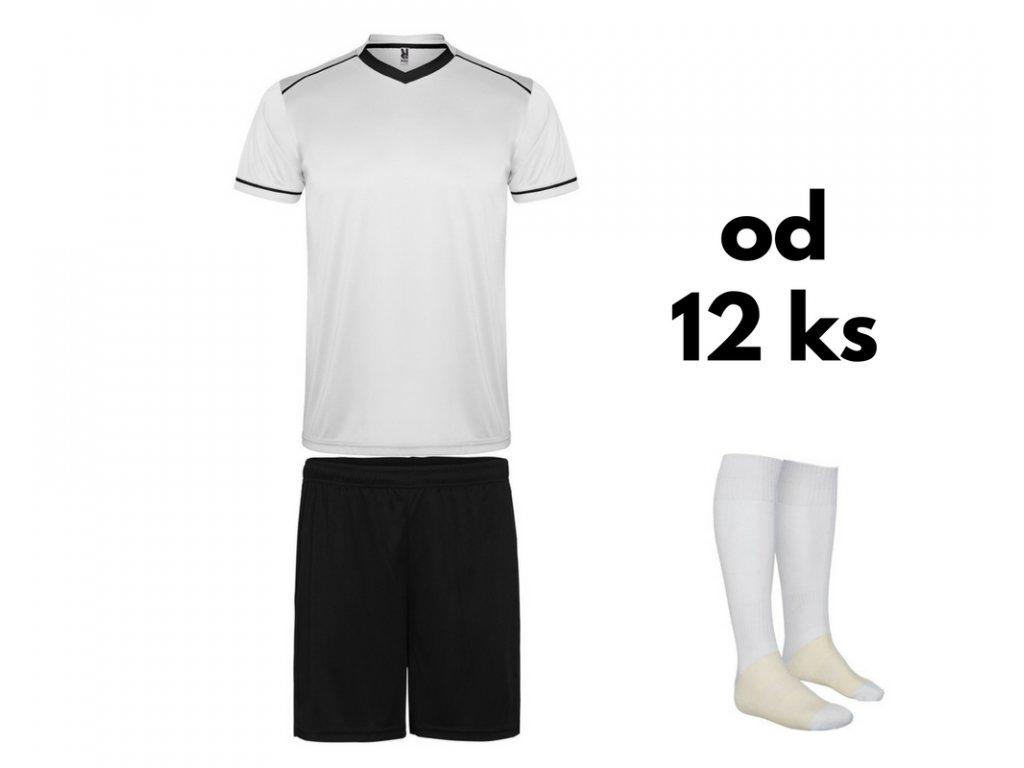 Futbalová sada United pre celé mužstvo, od 12 ks, biela / čierna