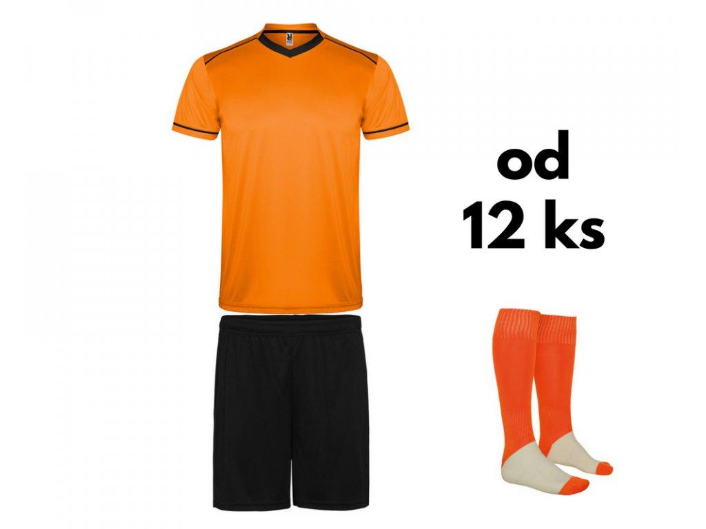 Futbalová sada United pre celé mužstvo, od 12 ks, oranžová / čierna