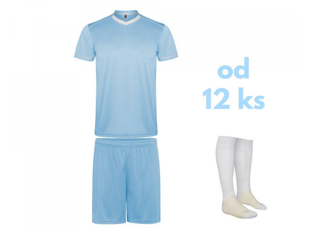 Futbalová sada United pre celé mužstvo, od 12 ks, svetlo modrá / biela