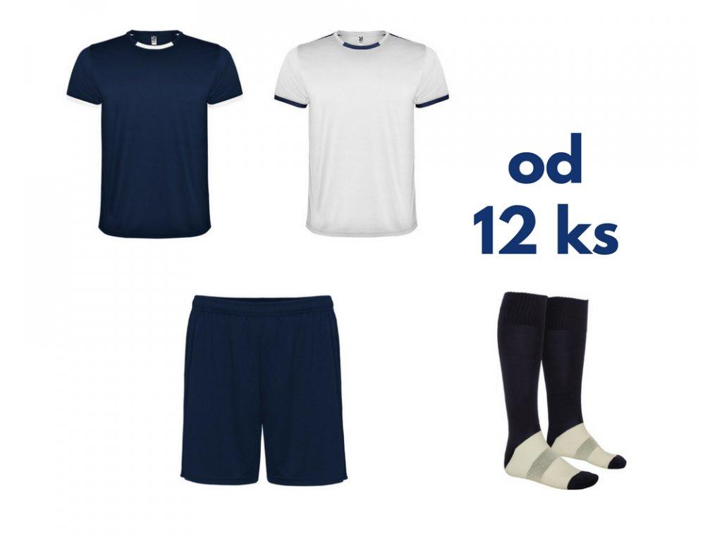 Futbalová sada Racing 2x dres. 1x šortky, 1x štucne, od 12 ks, tmavo modrá / biela