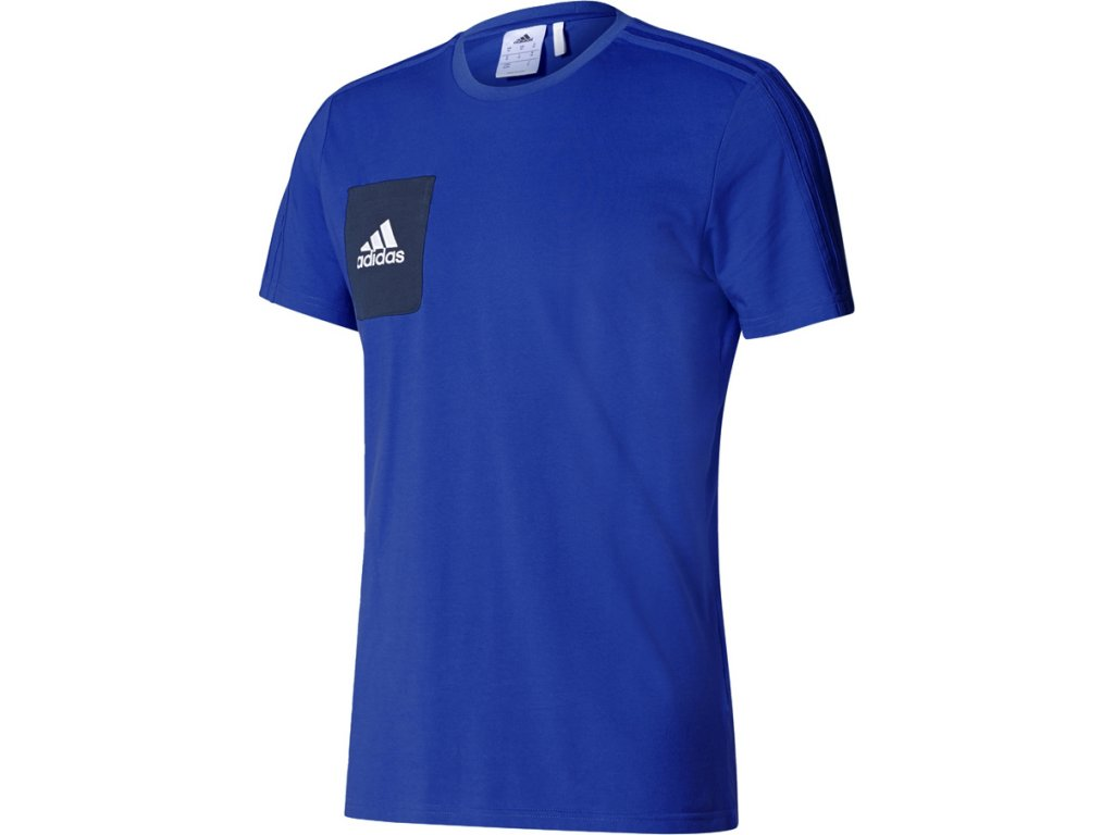 Vychádzkové tričko adidas TIRO 17 TEE kráľovsky modré BQ2660