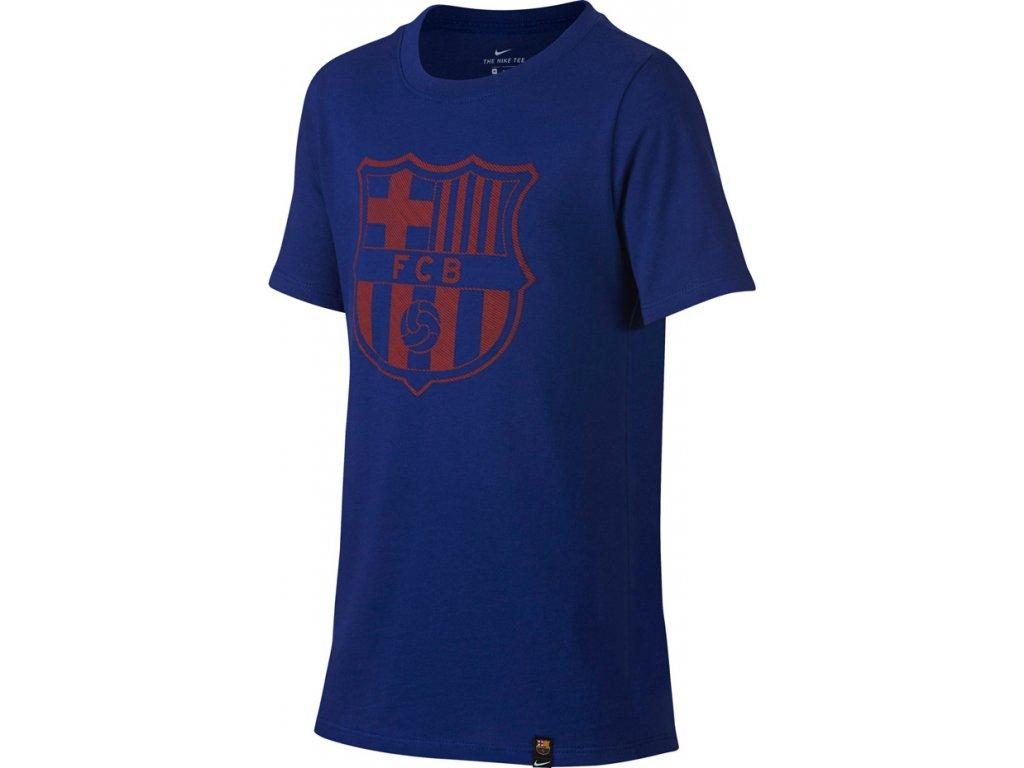 Detské tričko NIKE FC BARCELONA B NK CREST JR  859192 410