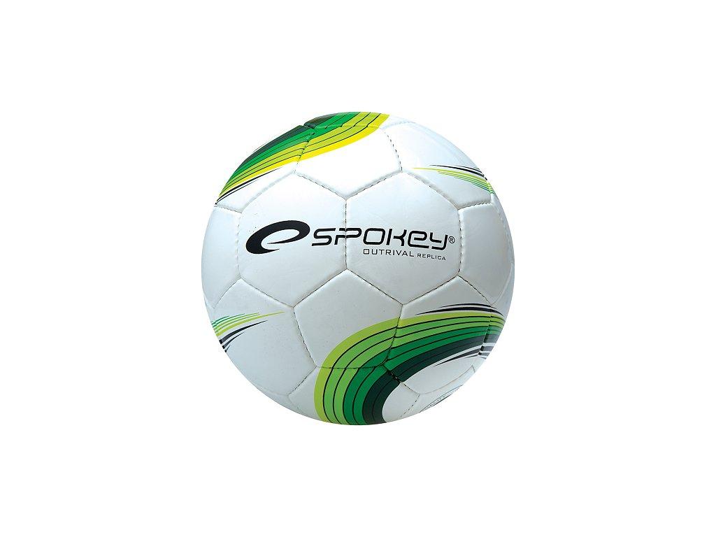 Futbalová lopta SPOKEY OUTRIVAL REPLICA bielo/zelená roz 5 /834061
