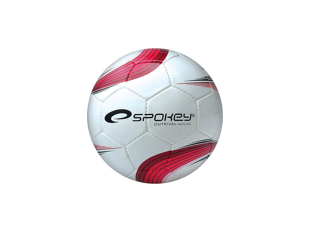 Futbalová lopta SPOKEY OUTRIVAL REPLICA bielo/červená roz 5 /833968