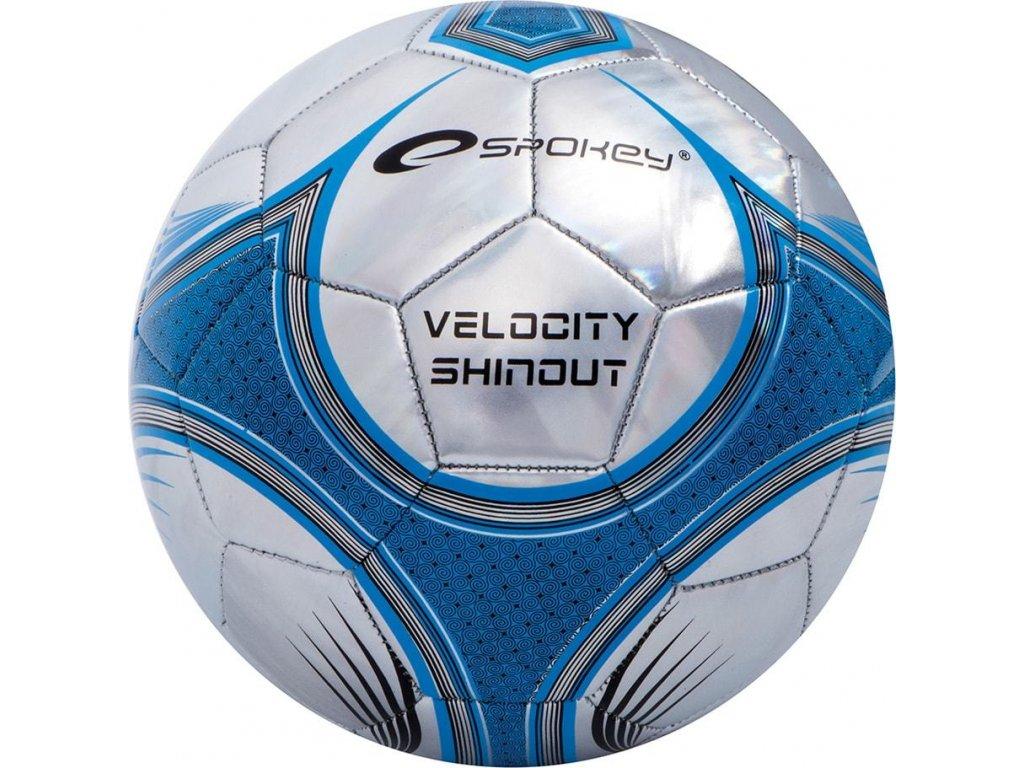 Futbalová lopta SPOKEY VELOCITY SHINOUT strieborná 835921