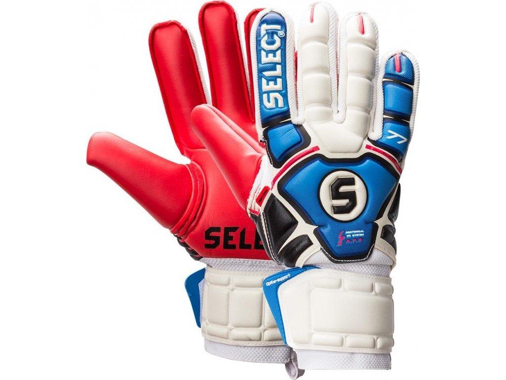 Brankárske rukavice SELECT 77 bielo/modro/červené