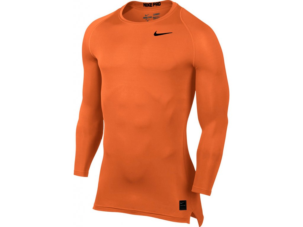 Tričko NIKE COOL COMPRESSION LS oranžové 703088 815