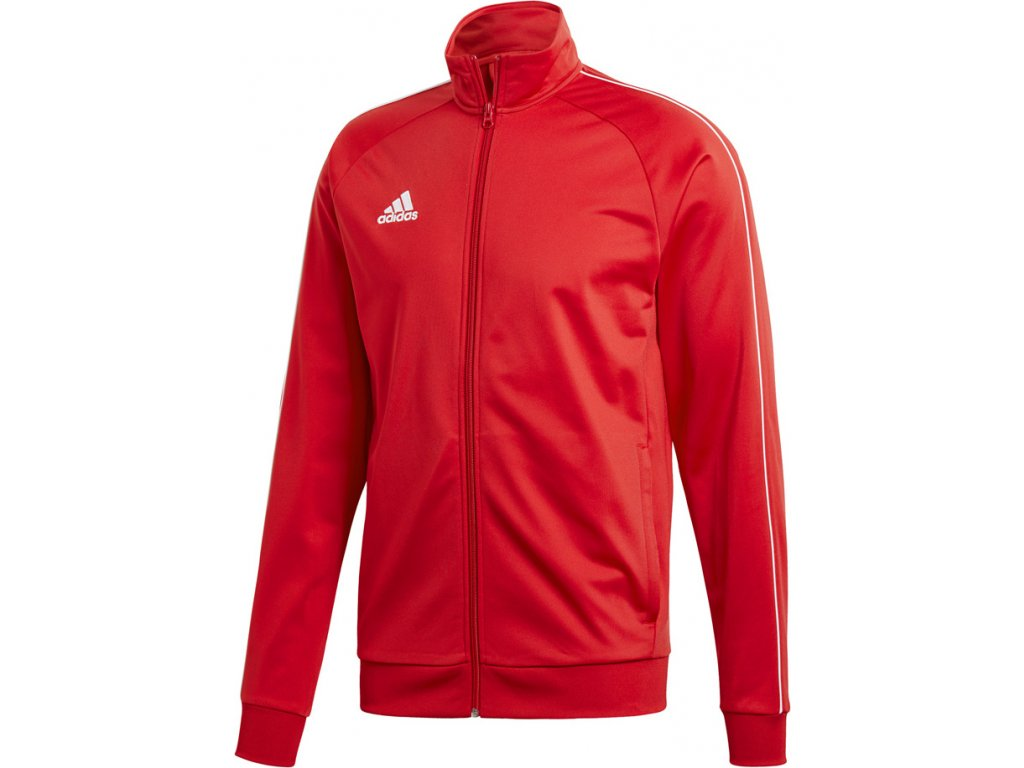 Mikina Adidas CORE 18 PES - červená  CV3565
