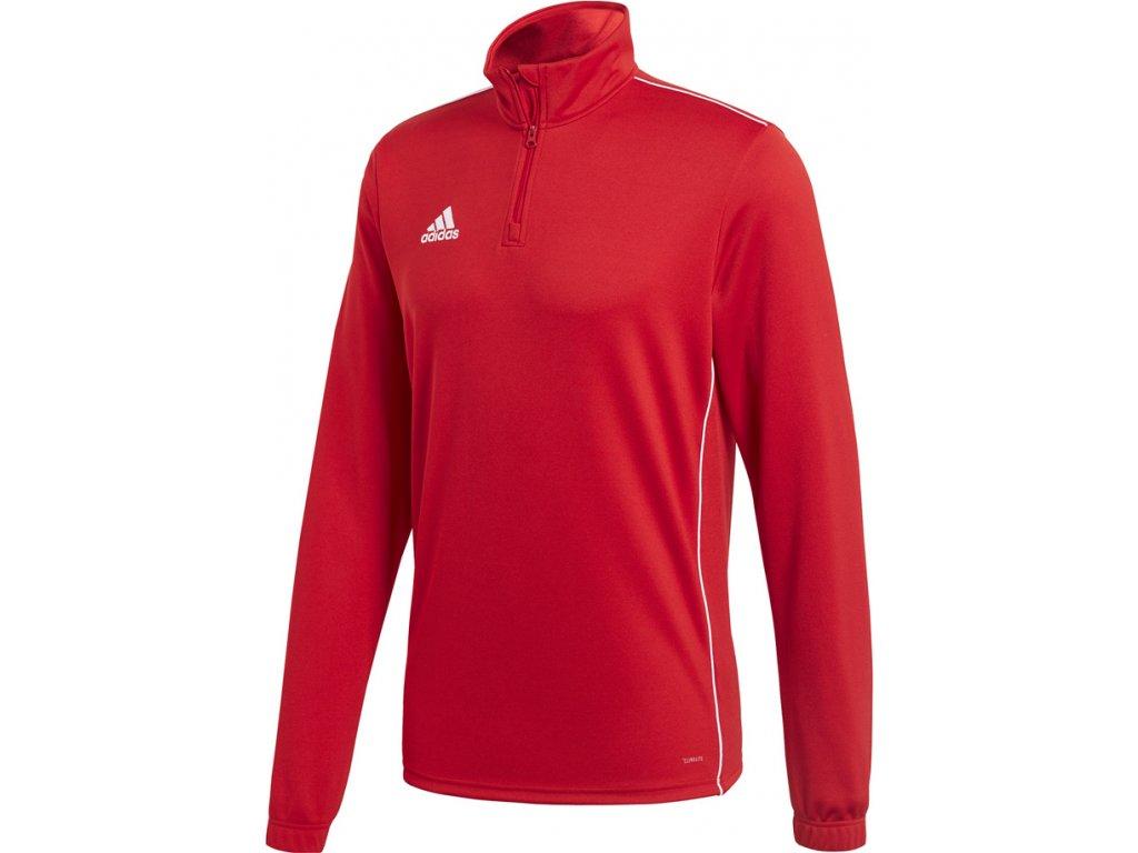 Mikina Adidas CORE 18 TRAINING TOP - červená CV3999