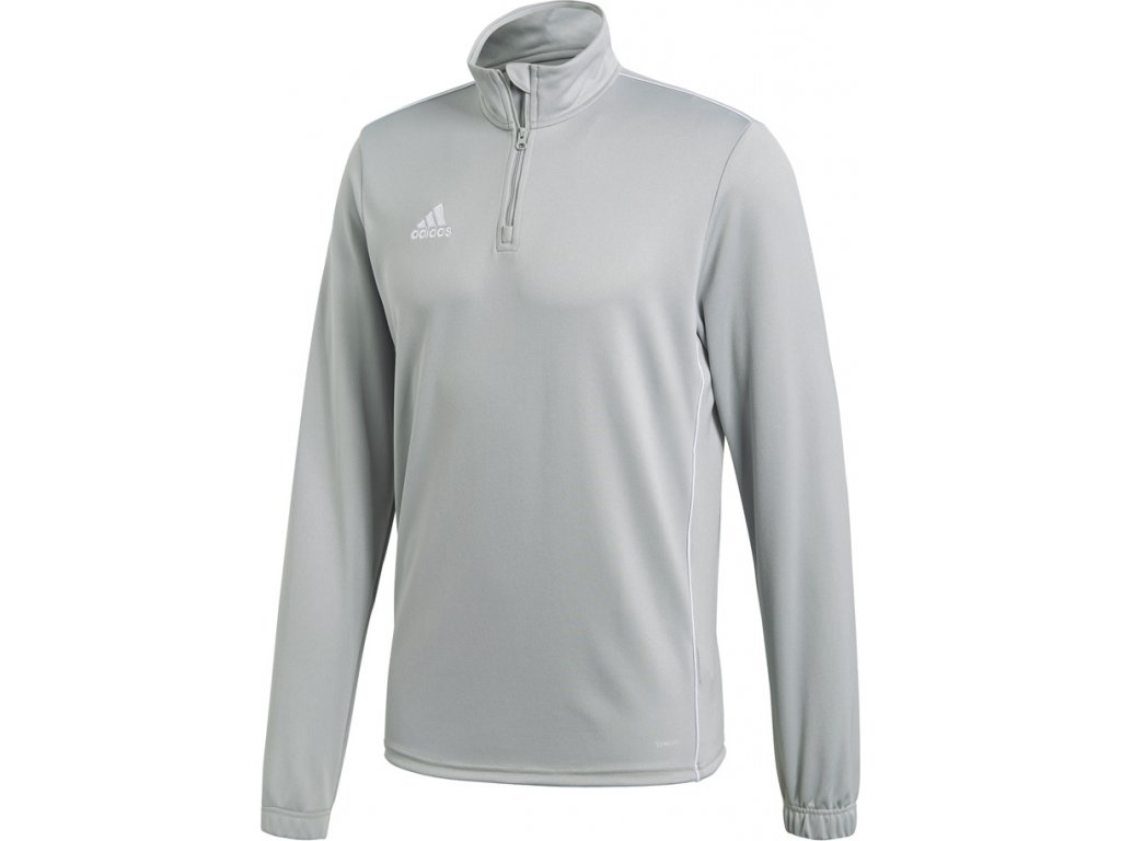 Mikina Adidas CORE 18 TRAINING TOP - šedá CV4000