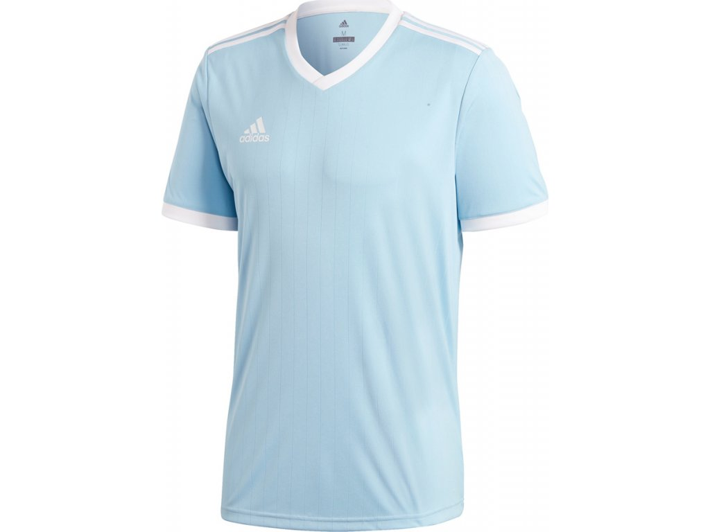 Detský futbalový dres adidas TABELA 18 JERSEY JR svetlo modrý  CE8943