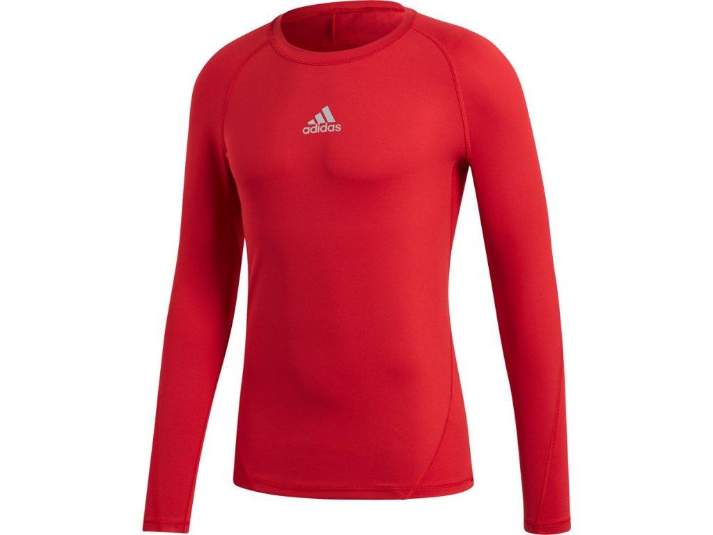 Tričko s dlhým rukávom Adidas ALPHASKIN SPORT LST M - červená  CW9490
