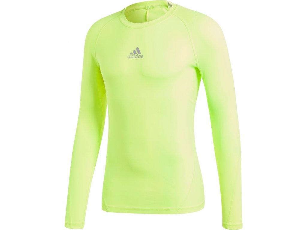Tričko s dlhým rukávom Adidas ALPHASKIN SPORT LST M - žltá CW9509