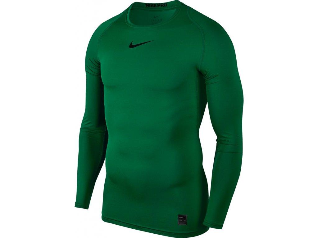 Tričko NIKE M NP LS COMP - zelená 838077 302