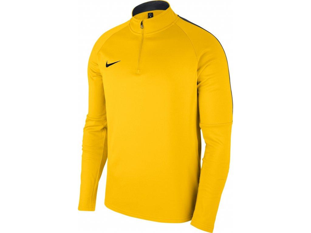 Mikina Nike Dry Academy 18 Drill Top LS - žltá 893624 719