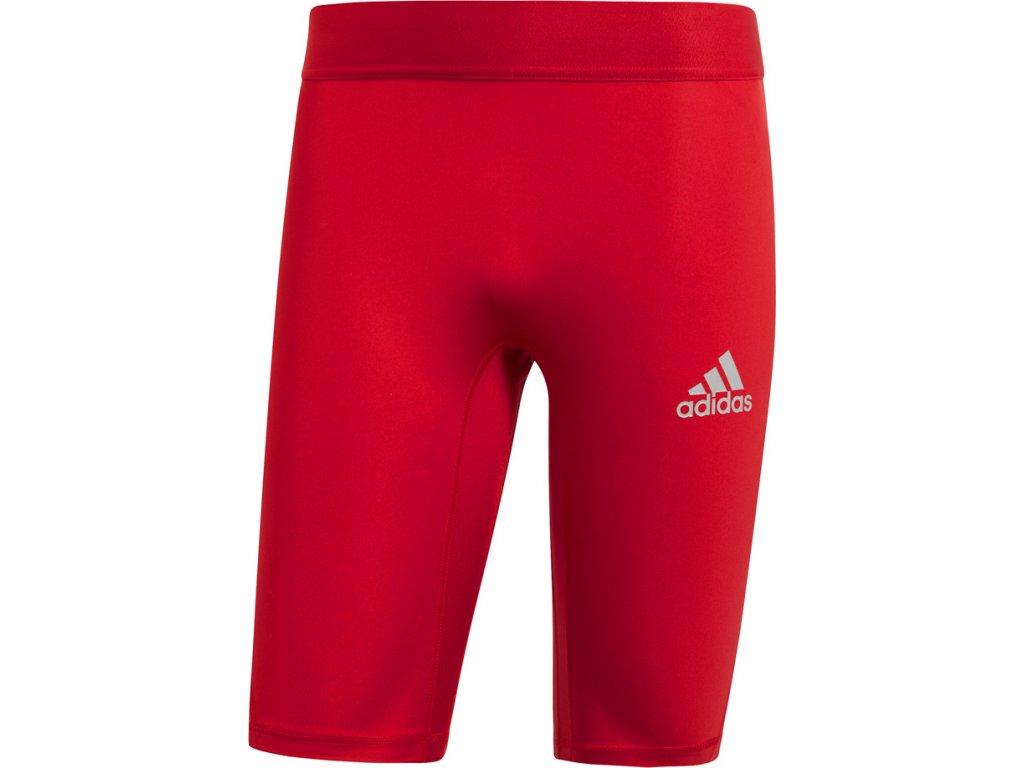 Termo šortky adidas Alphaskin Sport Sh Tight M červené CW9460