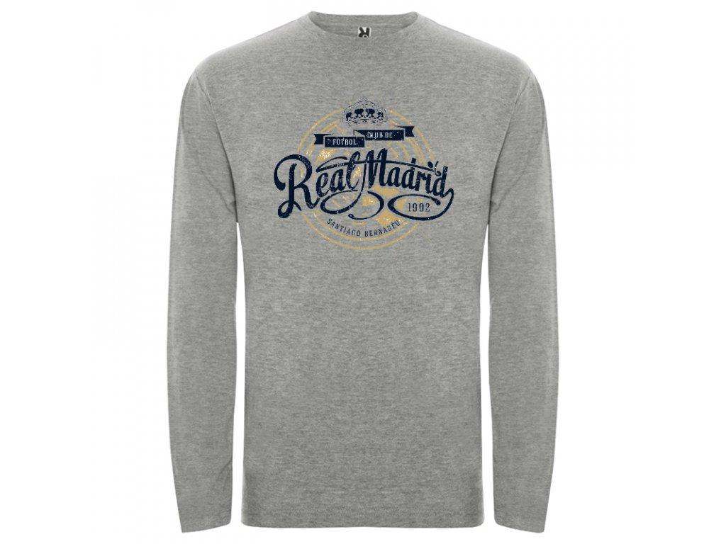 3476a1897 Pánske tričko dlhý rukáv Real, sivé melírové | Superfutbal.sk