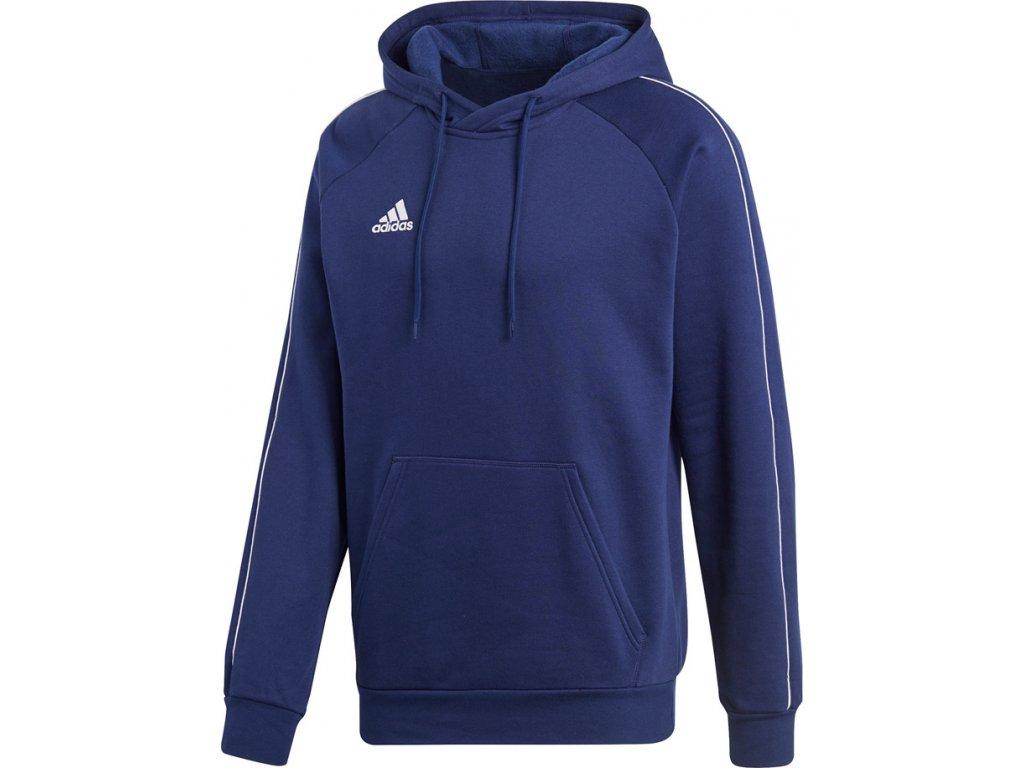 Mikina adidas CORE 18 HOODY modrá CV3332