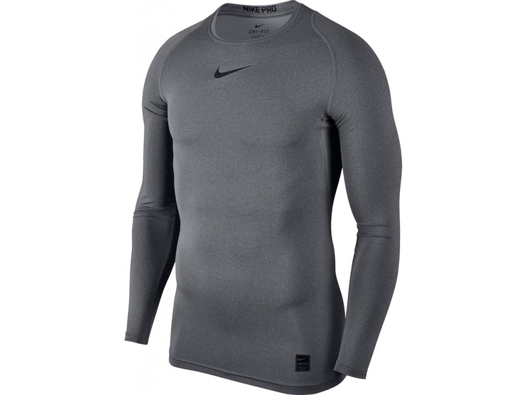 Termotričko Nike Pro Top Compression LS šedé 838077 091