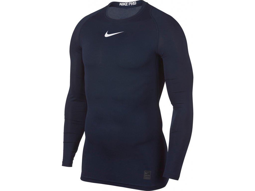 Termotričko Nike Pro Top Compression LS modré 838077 451