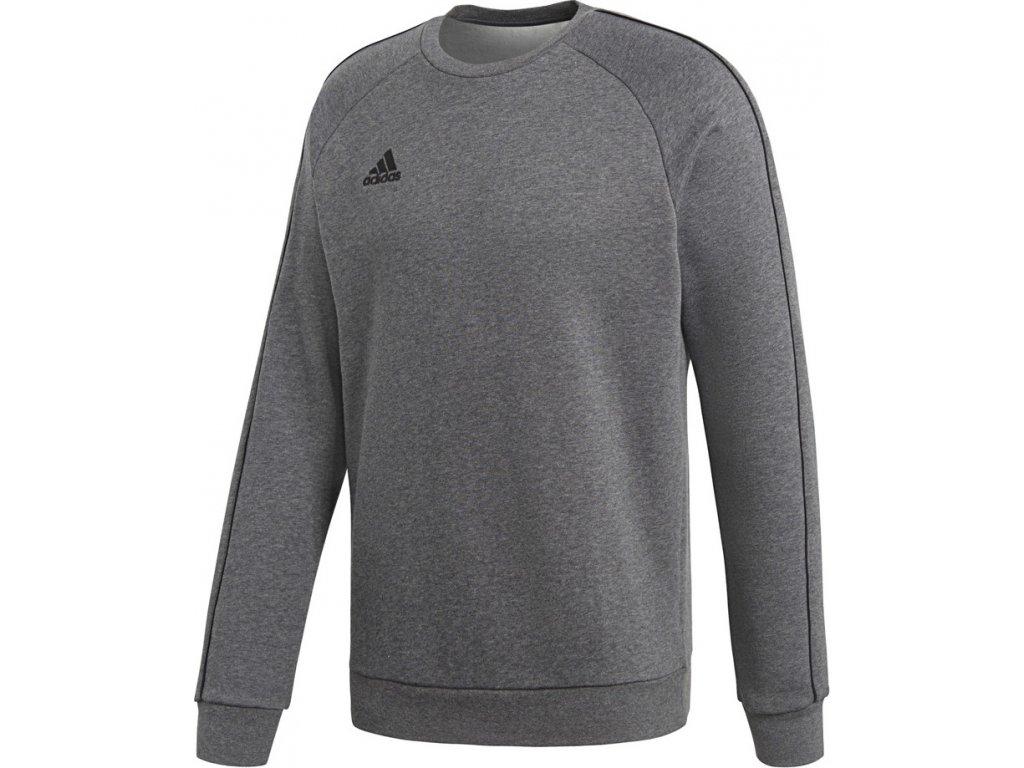 Mikina adidas CORE 18 SWEAT TOP šedá CV3960