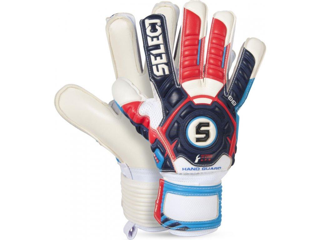Brankárske rukavice Select 99 Hand Guard bielo-modro-červené