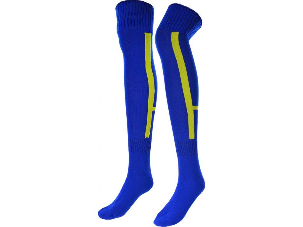 Futbalové štucne ISKIERKA TRAMPKARZ 35-37 modro-žlté