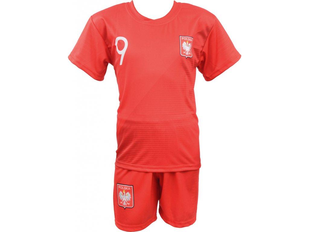 Komplet Replika Lewandowski Polska Mundial 2018 červený