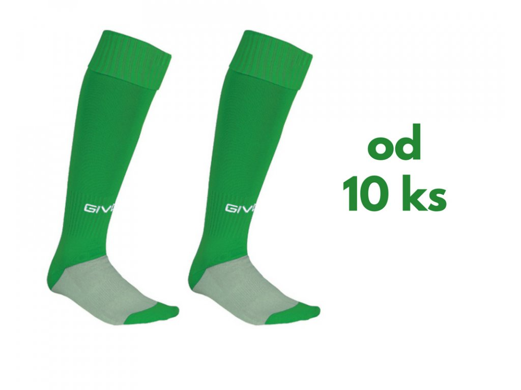 Sada štucní Givova, detské aj dospelácke veľkosti, zelená farba