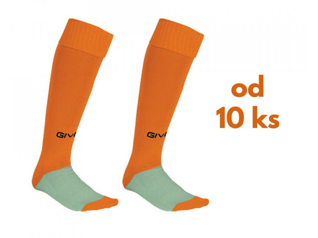 Sada štucní Givova, detské aj dospelácke veľkosti, oranžová farba