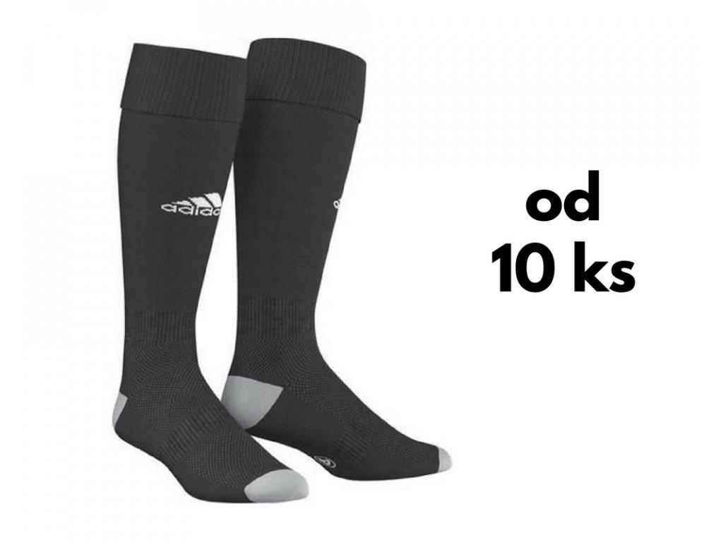 Sada štucní Adidas Milano, detské aj dospelácke veľkosti, čierna farba