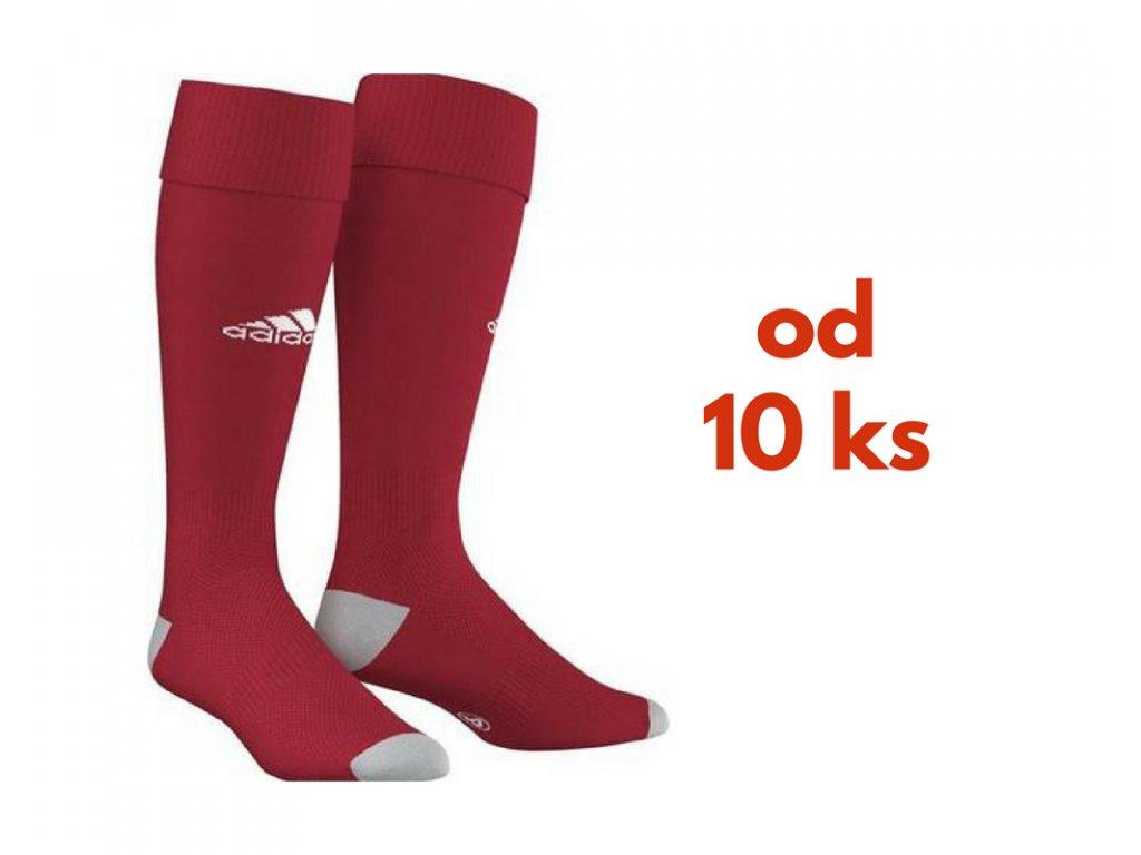 Sada štucní Adidas Milano, detské aj dospelácke veľkosti, červená farba