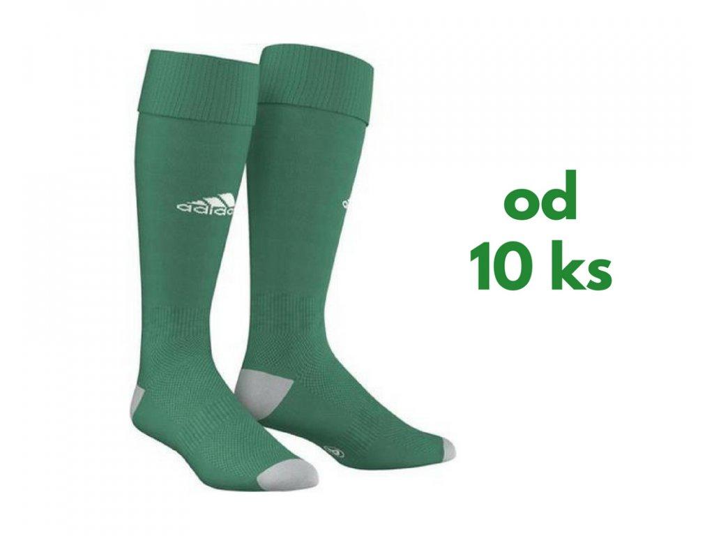 Sada štucní Adidas Milano, detské aj dospelácke veľkosti, zelená farba