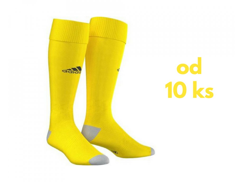 Sada štucní Adidas Milano, detské aj dospelácke veľkosti, žltá farba