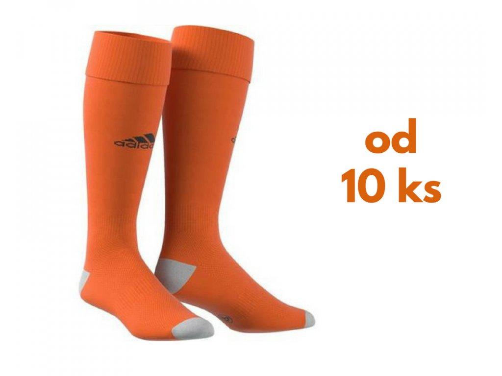 Sada štucní Adidas Milano, detské aj dospelácke veľkosti, oranžová farba