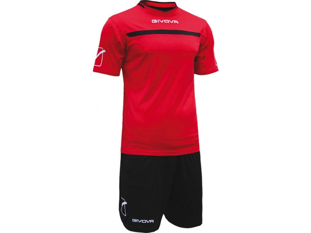 Komplet Givova Kit One červeno-čierny
