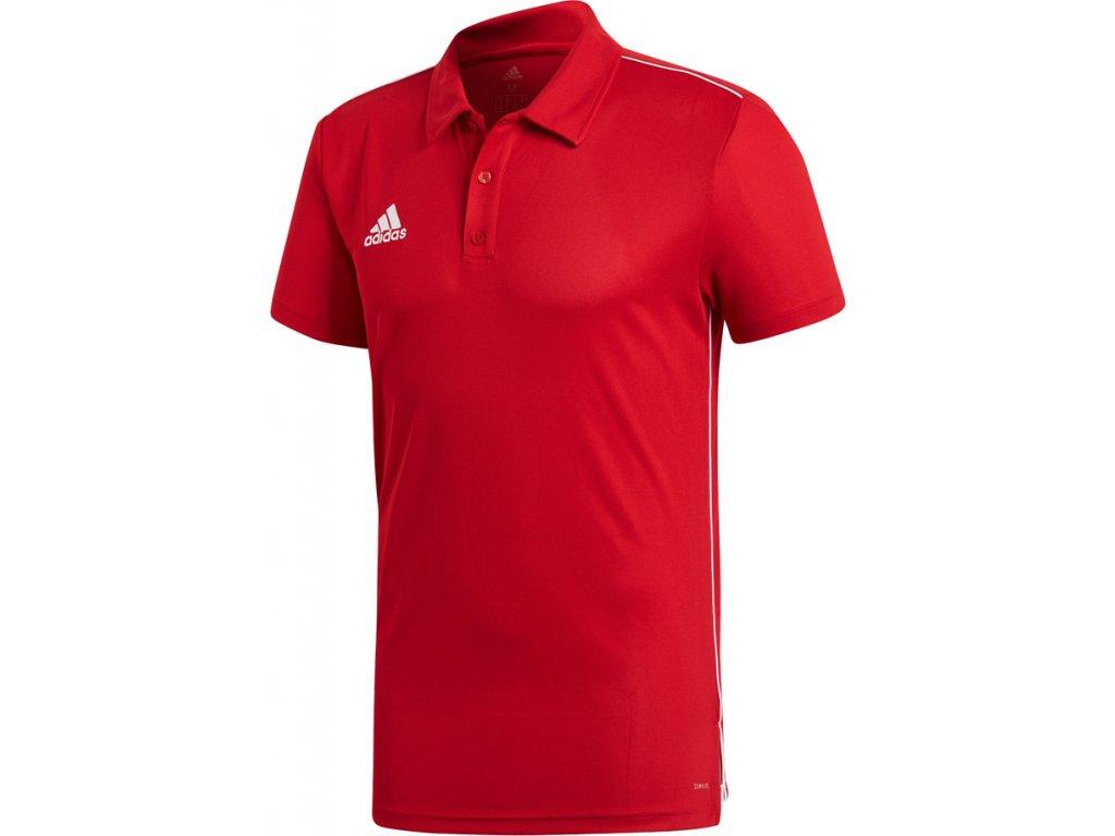 Polokošeľa adidas CORE 18 POLO červená CV3591