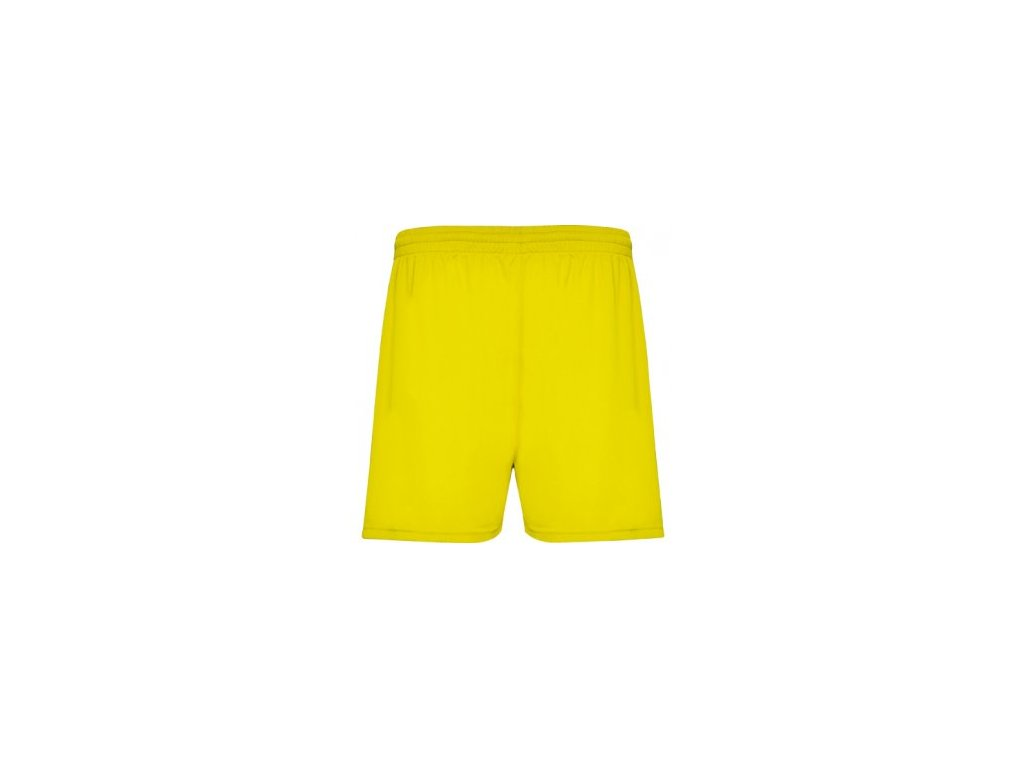 Futbalové šortky Calcio, žltá, veľkosť L