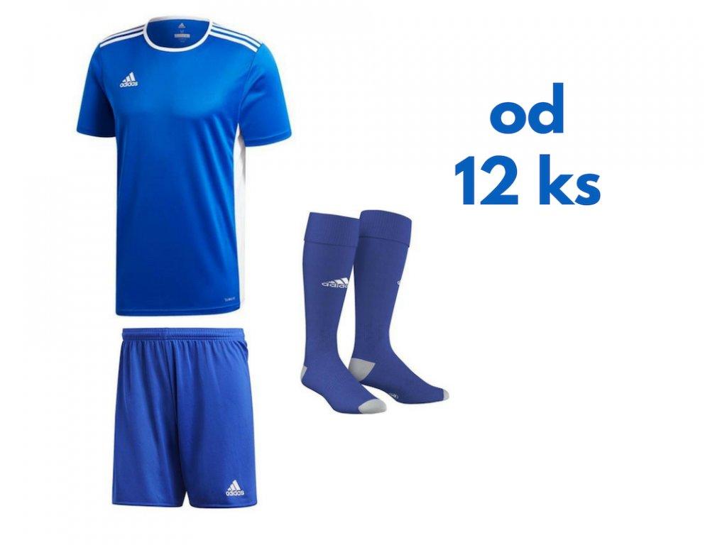 Futbalová sada Adidas Entrada 18 pre celé mužstvo, od 12 ks, kráľovsky modrá