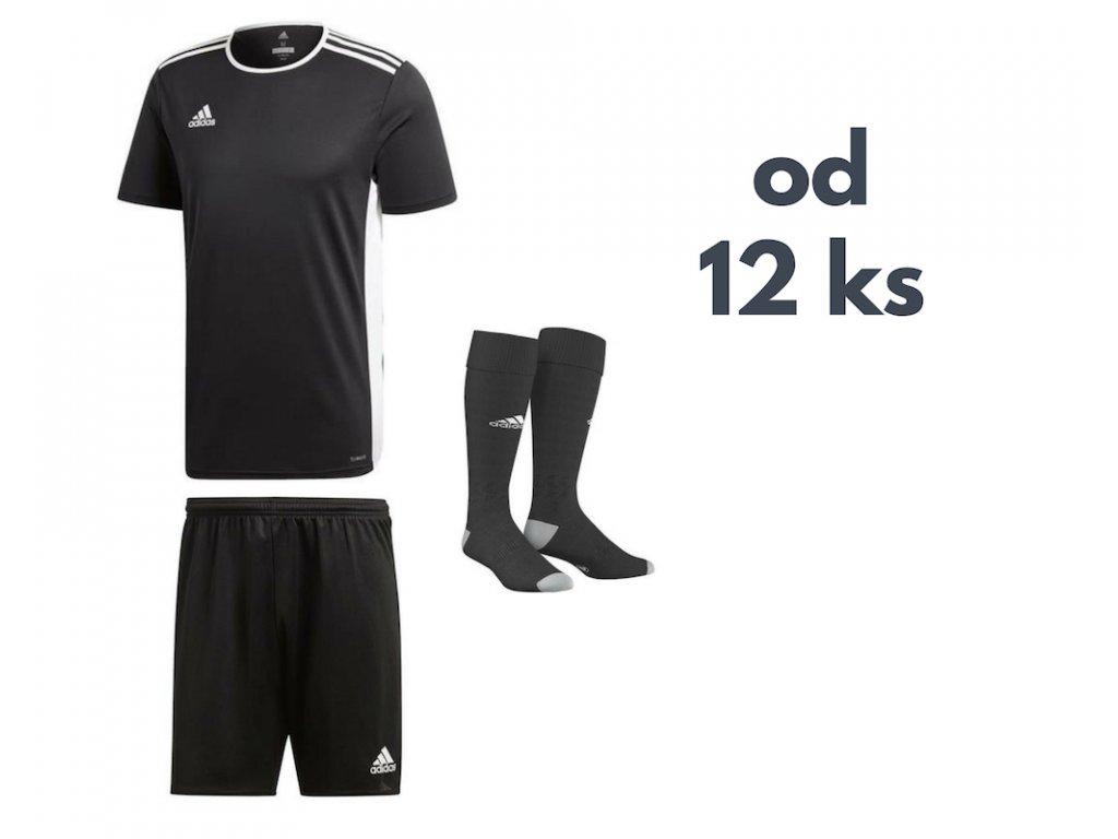 Futbalová sada Adidas Entrada 18 pre celé mužstvo, od 12 ks, čierna
