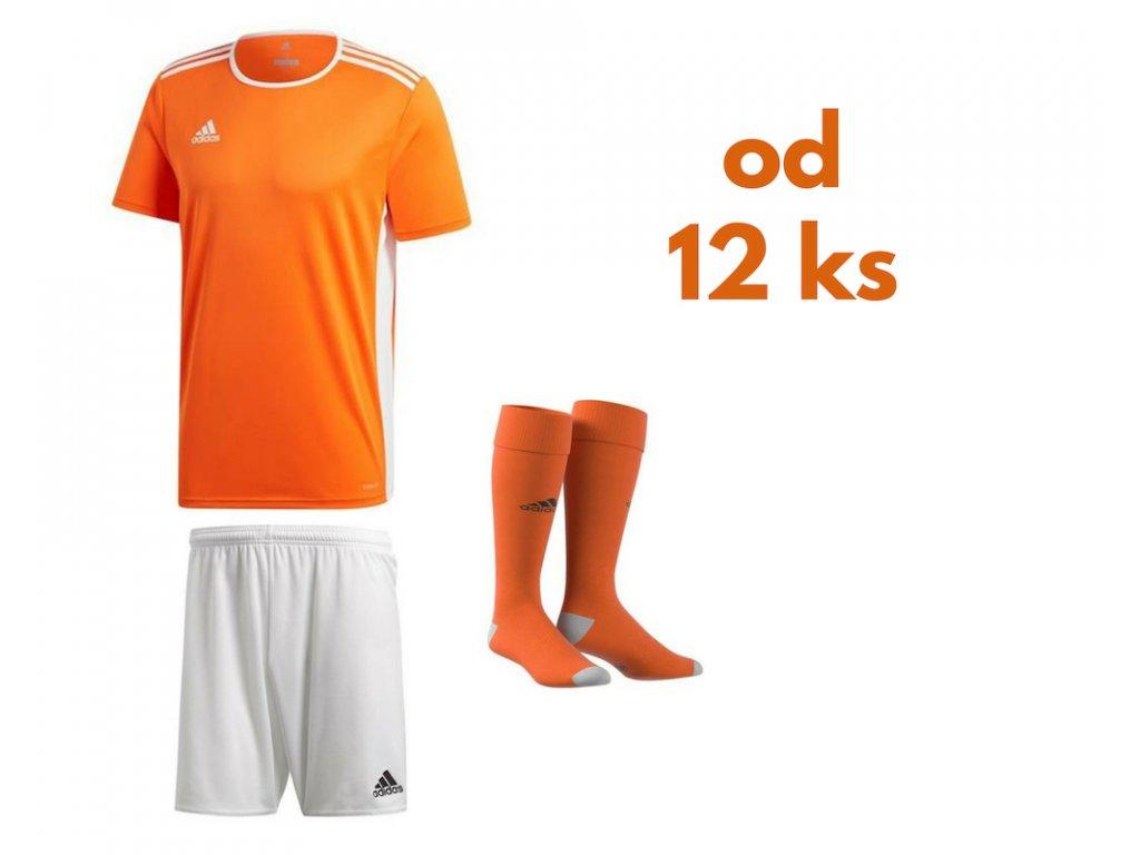Futbalová sada Adidas Entrada 18 pre celé mužstvo, od 12 ks, oranžová
