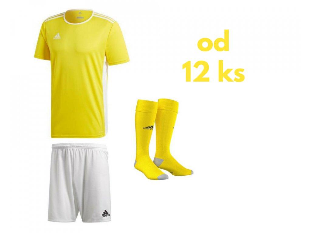Futbalová sada Adidas Entrada 18 pre celé mužstvo, od 12 ks, žltá