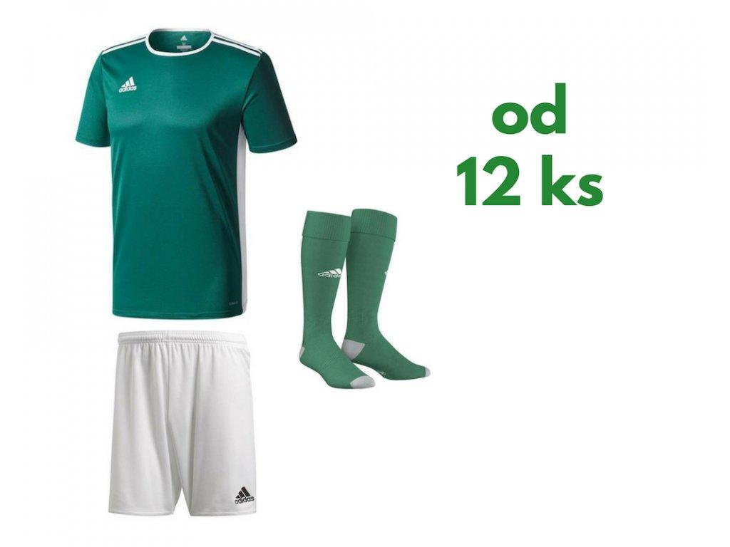 Futbalová sada Adidas Entrada 18 pre celé mužstvo, od 12 ks, zelená