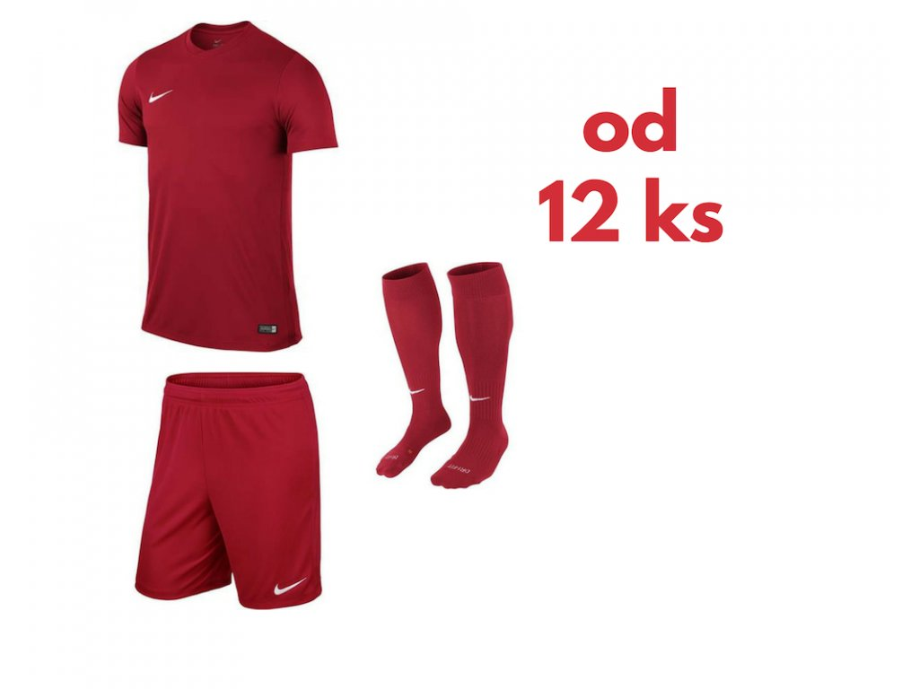 Futbalová sada Nike Park VI pre celé mužstvo, od 12 ks, červená