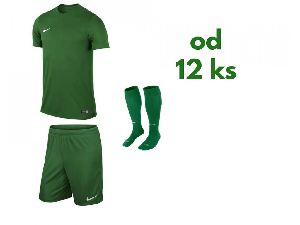 Futbalová sada Nike Park VI pre celé mužstvo, od 12 ks, zelená