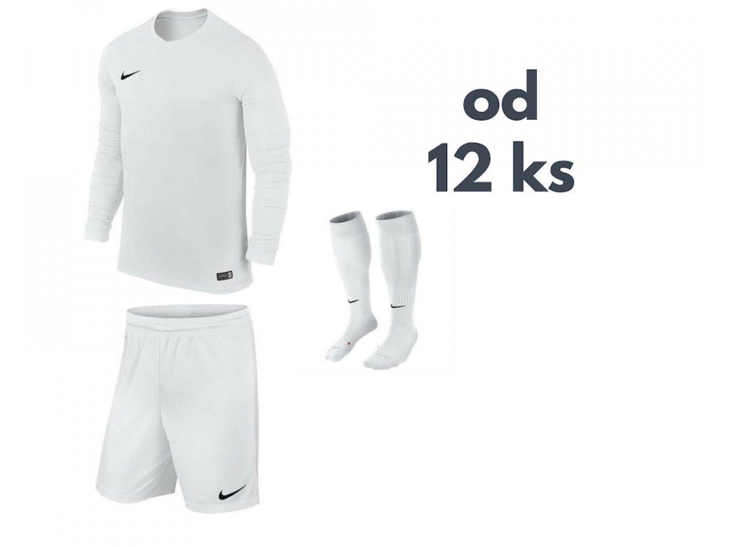 Futbalová sada Nike Park VI s dlhým rukávom pre celé mužstvo, od 12 ks, biela