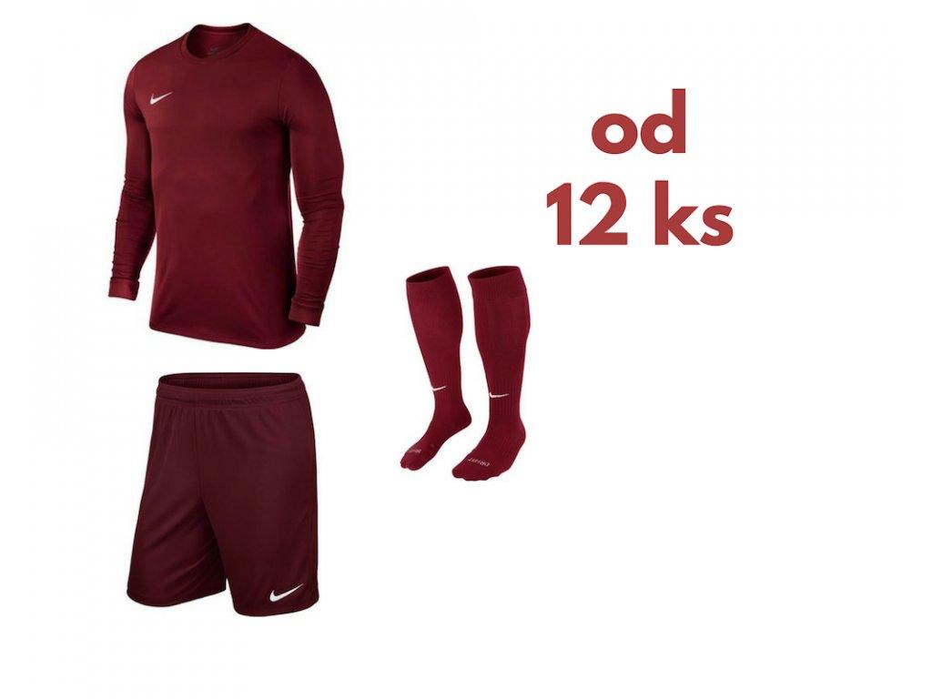 Futbalová sada Nike Park VI s dlhým rukávom pre celé mužstvo, od 12 ks, bordová